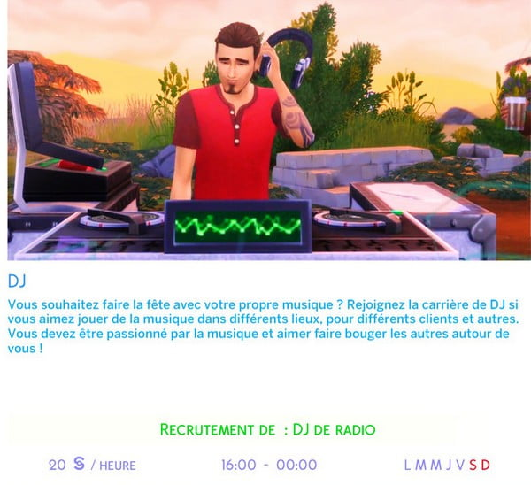 Carriere_DJ_Sims4
